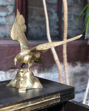 Load image into Gallery viewer, Brass Eagle on Rock
