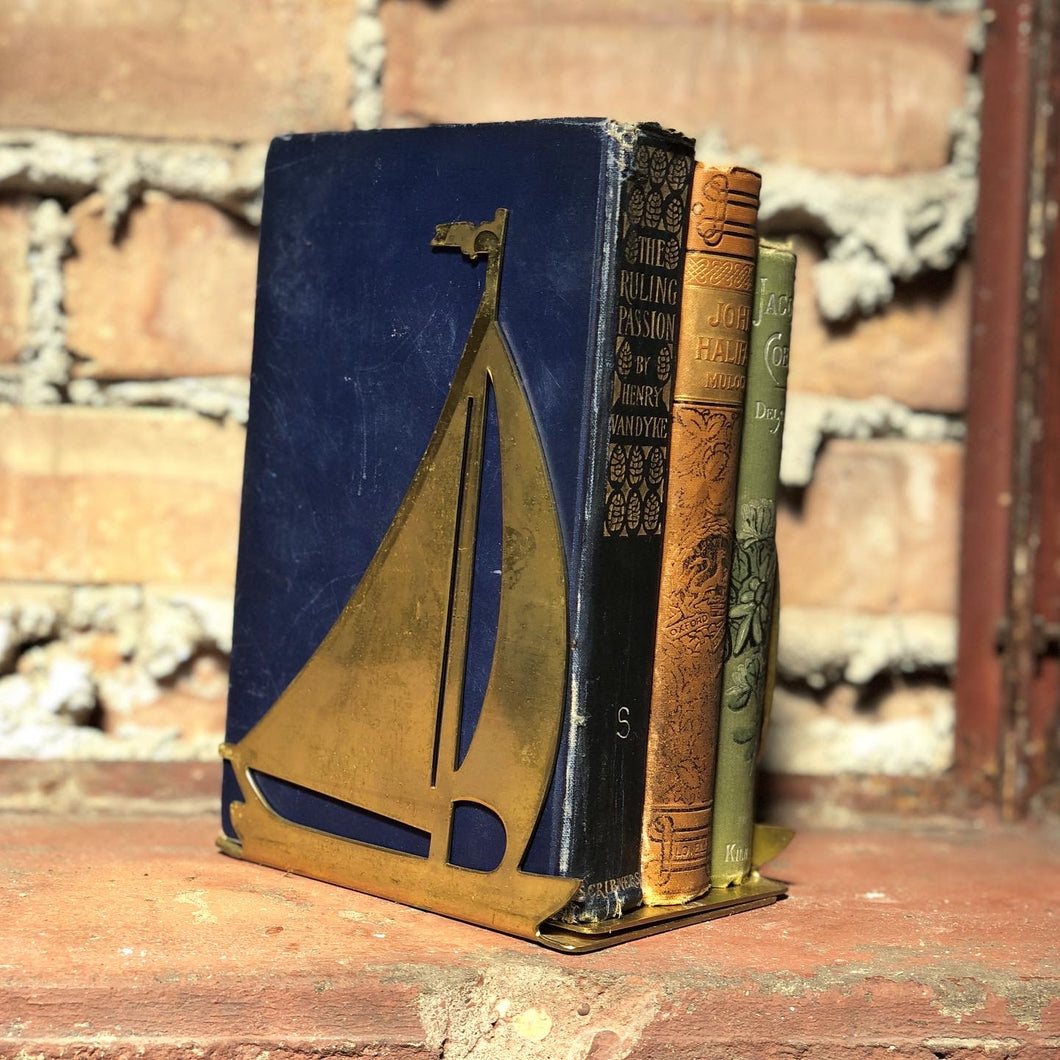 Solid Brass Sailboat Bookend Set (2)