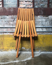 Load image into Gallery viewer, Mid-Century Style Slat Folding Lounger