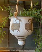 Load image into Gallery viewer, Glazed Ceramic Ram Hanging Planter
