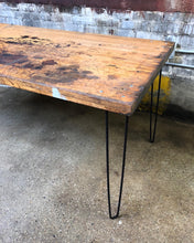 Load image into Gallery viewer, Aged Butcher Block Countertop Desk / Table