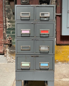 Four-Piece Industrial Card Catalogue