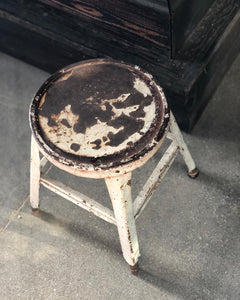 Rusty Metal Stool