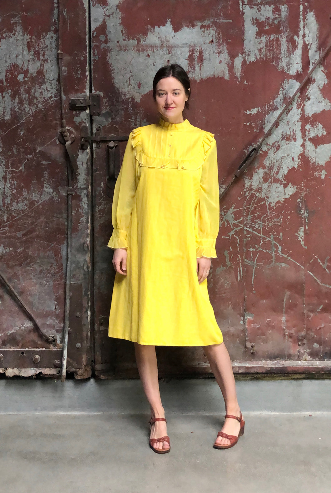 Yellow Pajama Dress