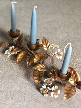 Load image into Gallery viewer, Gold Gilt Italian Candelabra