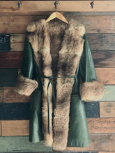 Load image into Gallery viewer, Leather and Fur Coat