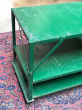 Load image into Gallery viewer, Green Industrial Cart on Casters