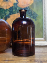 Load image into Gallery viewer, Amber Glass Bottles Set (2)