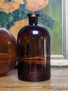 Amber Glass Bottles Set (2)