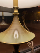 Load image into Gallery viewer, Mid-Century Brushed Metal and Brass Lamp