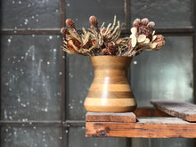 Load image into Gallery viewer, Striped Wooden Vase