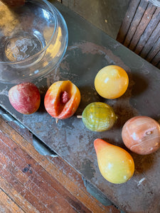 Stone Fruit in Glass Bowl Set (7)