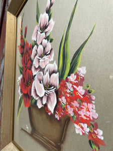 Floral Painting by G. Inez cir. 1960s
