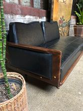 Load image into Gallery viewer, Mid-Century Black Vinyl Lowboy Sectional