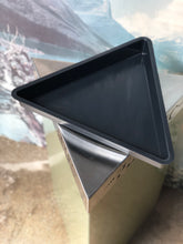 "Load image into Gallery viewer, Triangular Metal ""Plastic"" Recycling Bin"