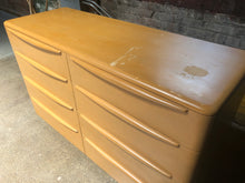 Load image into Gallery viewer, Lowboy Dresser w/ Mirror by Heywood-Wakefield