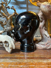 Load image into Gallery viewer, Black Glass Mannequin Head
