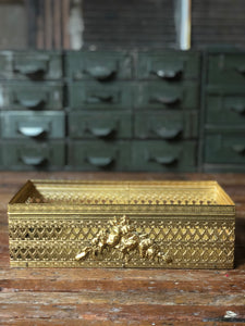 Gold / Metal Open Storage Container