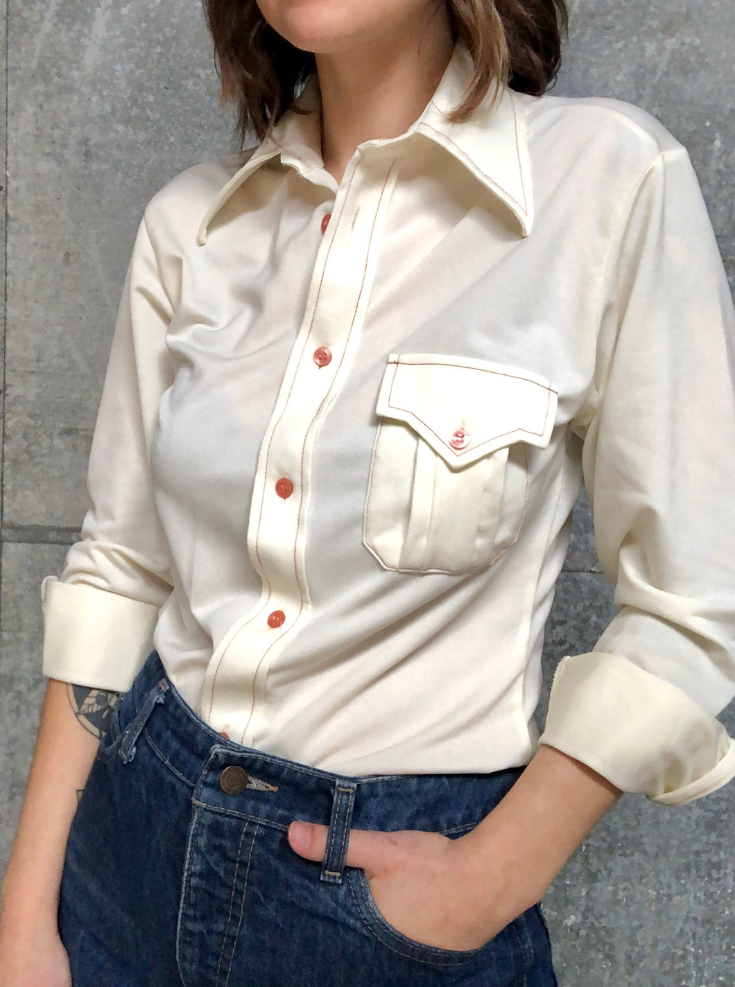 Sears Poly Button-Down