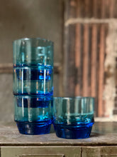 Load image into Gallery viewer, Blue Glassware Set (4)