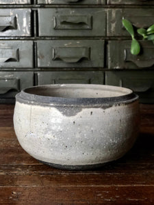 Grey Ceramic Dish w/ Lid