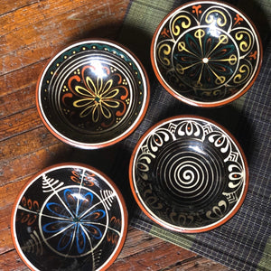Small Ceramic Mexican Bowl Set (4)