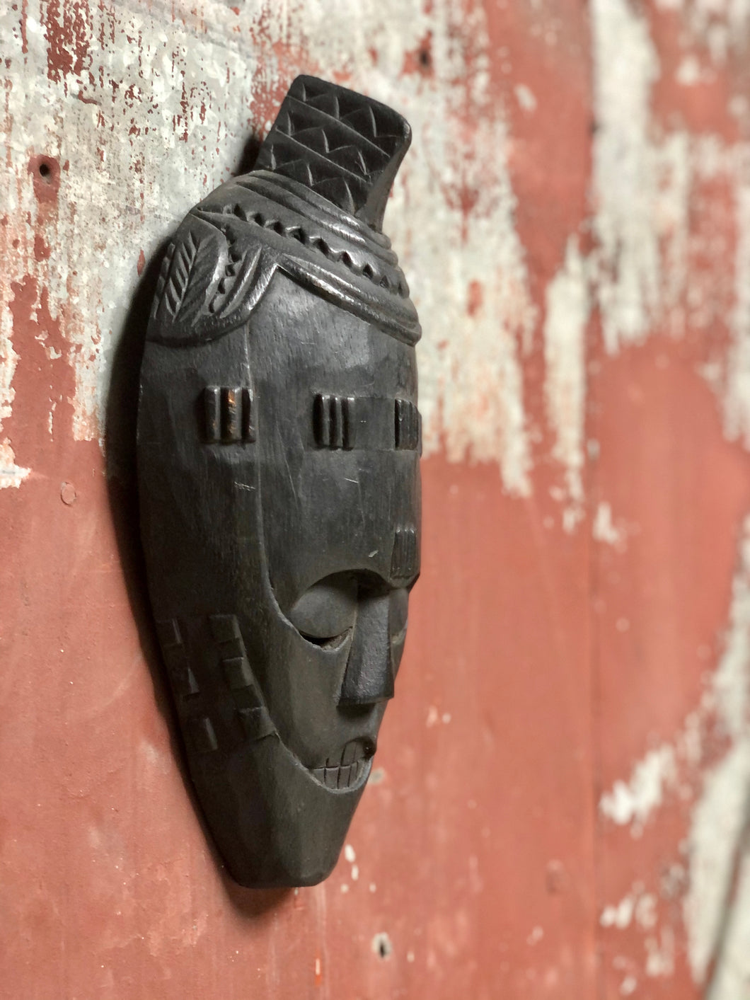 Hand-Carved African Mask