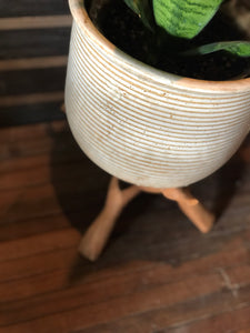 Ceramic Planter and Duck Stand Set (2)