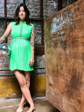 Load image into Gallery viewer, Lime Disco Dress