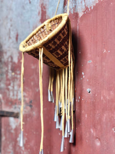 Leather Tassel Basket