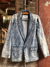 Load image into Gallery viewer, '80s Acid Wash Blazer