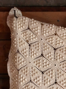 Large Crochet Knit Throw