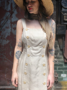 Oatmeal Button Dress