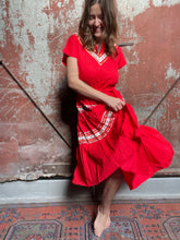 Load image into Gallery viewer, Red Western Dress