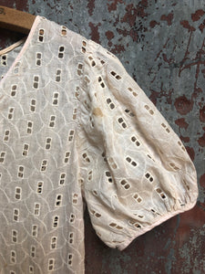 1930s Cotton Eyelet Dress