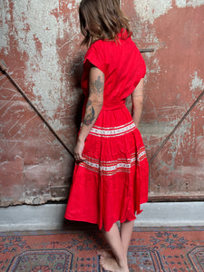 Red Western Dress