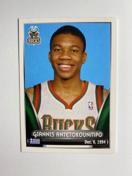 2014-2015 Giannis Antetokounmpo ROOKIE STICKER PANINI NBA EUROPE EDITION #125