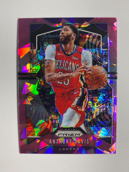 2019-2020 PRIZM Anthony Davis Pink Cracked Ice #222
