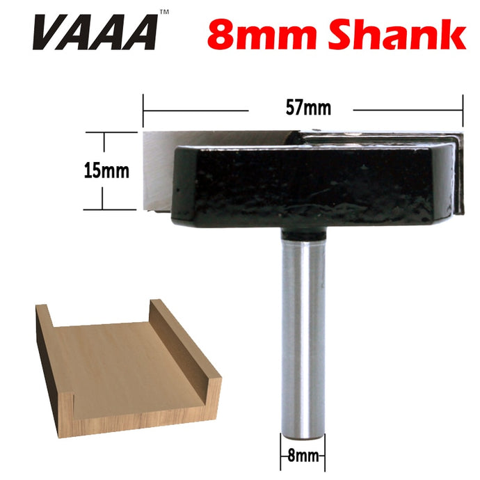 VAAA 1PC 8mm Shank Cleaning Bottom Router Bits with 8mm Shank,2-3/16 Cutting Diameter for Surface Planing Router Bit