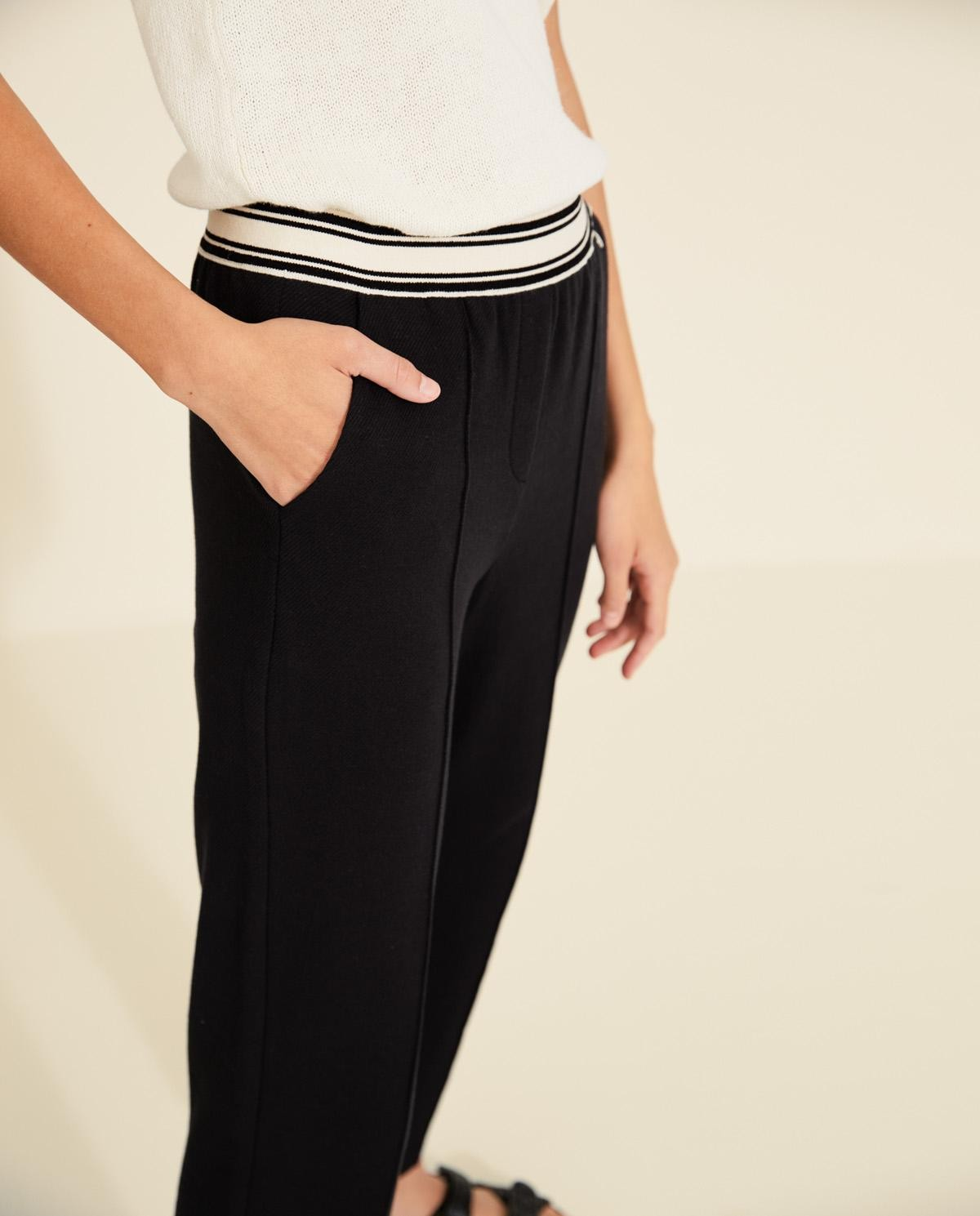 Textured plush trousers Yerse
