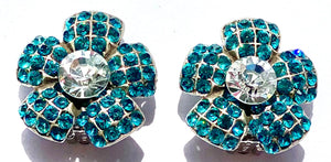VAN CLEEF LIKE ZIRCONIA CRYSTAL EARRINGS- CLIP ON'S