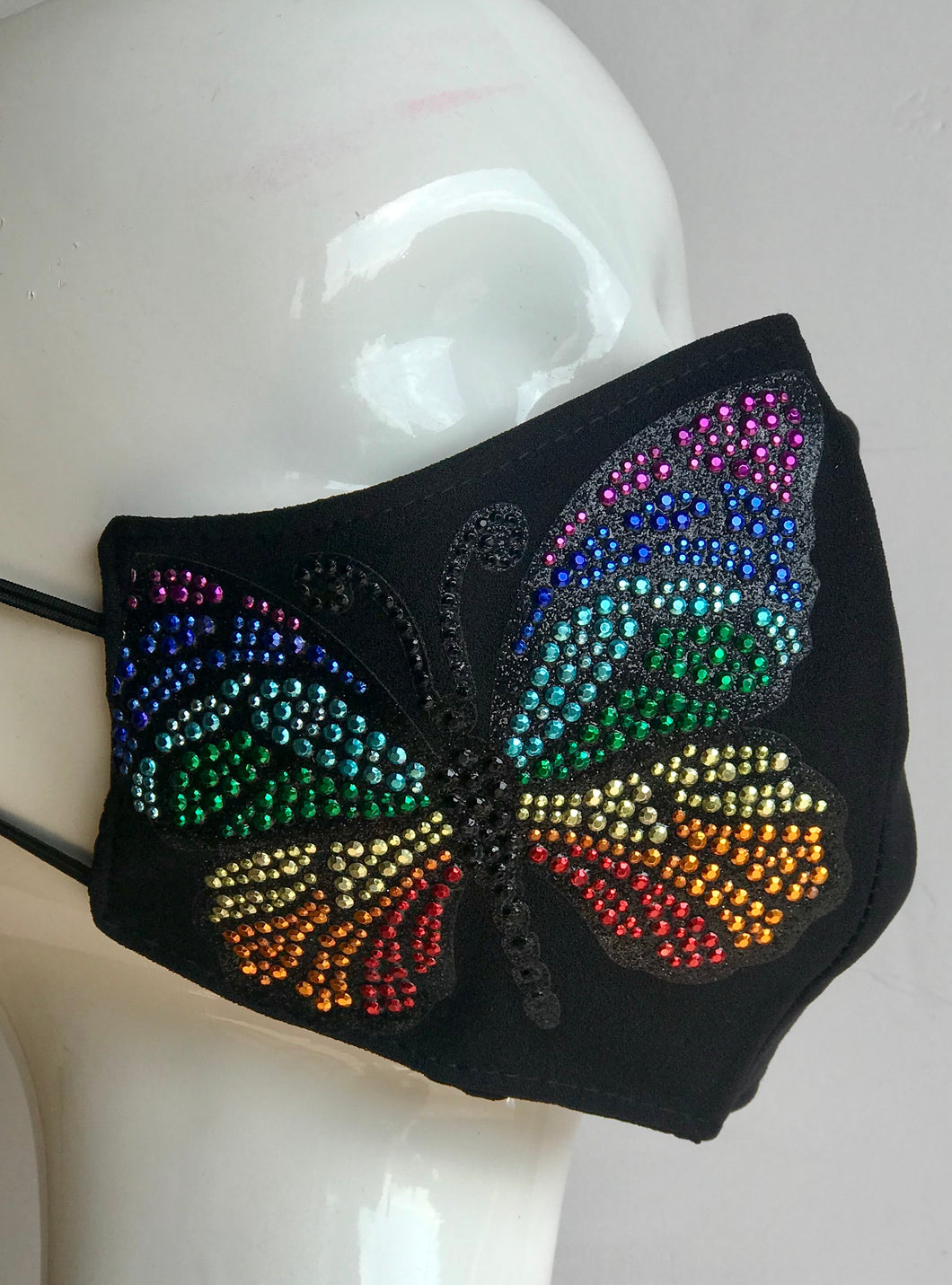 #1462 Giant Colorful Butterfly Mask