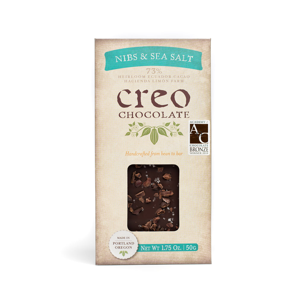 Nibs & Sea Salt - Creo Chocolate