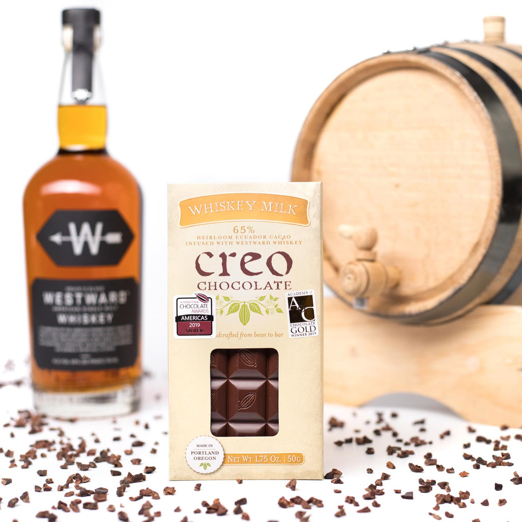 Whiskey Milk Chocolate Bar - Creo Chocolate