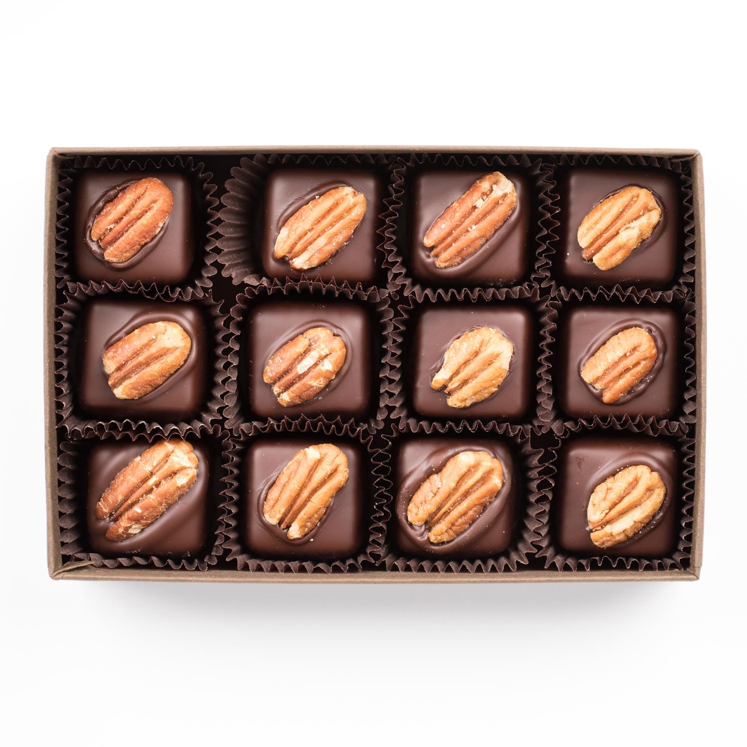 Turtle (Pecan and Caramel) 12-pack - Creo Chocolate