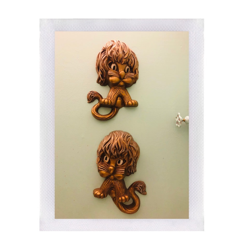 Vintage Leo Lions Wall Decor