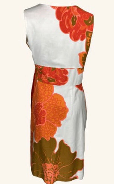 Vintage Mod Hawaiian Tiki Wrap Dress