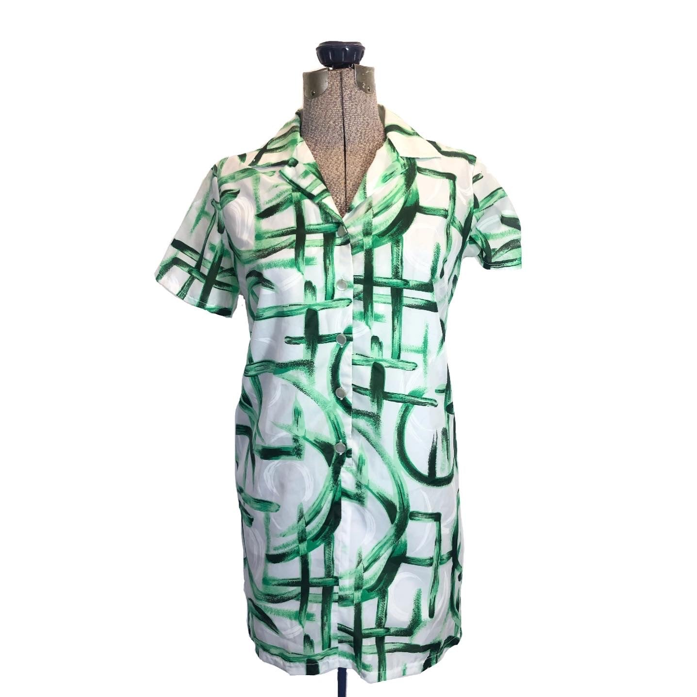 MAEK Vintage Bamboo Island Shirt Dress