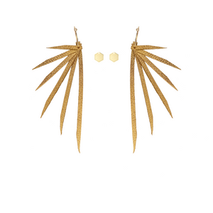 "Open image in slideshow, IN8POWER Earrings -  The ""Stay Gold"" Collection"