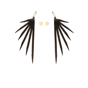 "Open image in slideshow, IN8POWER Earrings -  ""The Crow"" Collection"